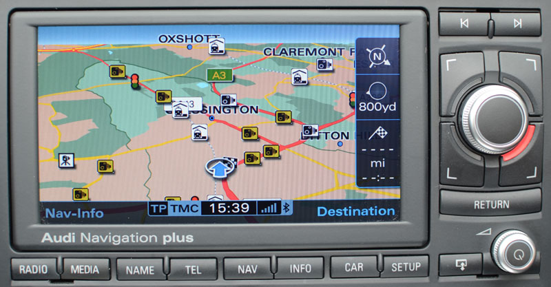 A RNSE High Res Navigation System SatNav Systems - Audi rns e