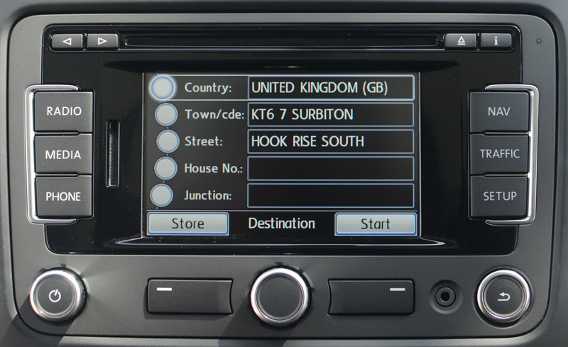 vw rns  radio navigation system satnav systems
