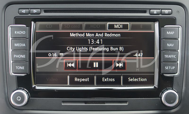Song view MDI Optional RNS 510 Navigation System1 rns 510 navigation system satnav systems vw rcd 510 wiring diagram at gsmportal.co