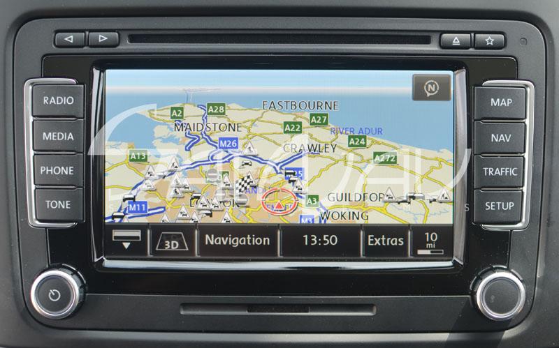 Volkswagen Passat Navigation System : Vw rns navigation system satnav systems