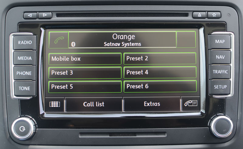 vw bluetooth mobile telephone interface satnav systems. Black Bedroom Furniture Sets. Home Design Ideas